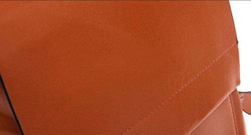 Retro In Pelle Di Cera Olio Signora Zaino Esterno Dimensioni 25 * 14 * 30cm Black