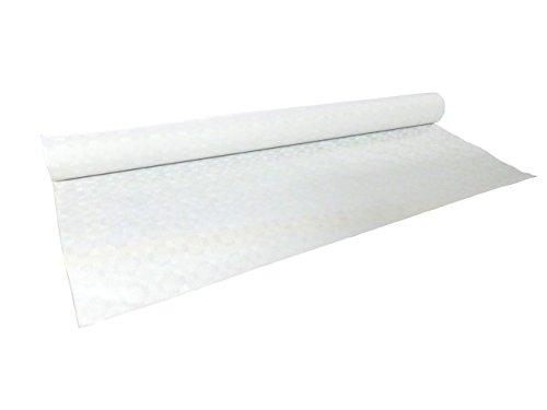 cacheva Damasttischdecke Tischtuch aus Papier gerollt 1,20m x 50m, weiß Hochwertige Papiertischdecke mit Damastprägung
