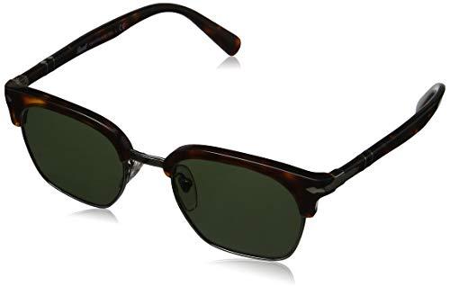 Persol Unisex PO3124S Sonnenbrille, Mehrfarbig (Gestell: havana, Gläser: braun polarisiert 24/57), Small (50)