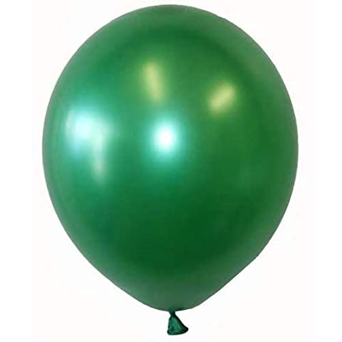 25 BALLOONS LARGE 12 INCH SHINEY GLOSS FINISH IN MANY COLOURS (FOREST GREEN)