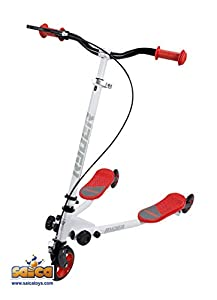 Saica Rojo Patinete Doble Base Ryder Speeder, Color Blanco (1)
