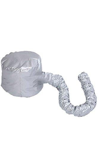 Heiße Weiche Motorhaube (Tragbare weiche Frisur Bonnet Haube Hut Haare Trocknen Cap Fön Anlage für Salon-Friseur-Home Reisen Silber)