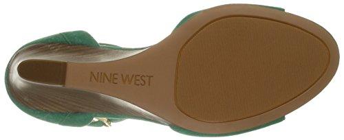 Nine West Farlee Faux Wildleder mit Keilabsatz Green
