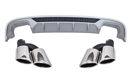 KITT CORDAUA38VFHNTY - Mantovana diffusore per paraurti posteriore, per marmitta sportiva, modelli 16-19