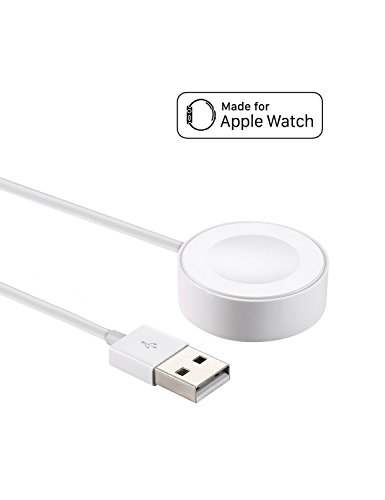 Apple Watch Cargador [Certificado por Apple] IQIYI 0.3M Base de Carga Magnética para iWatch Base Dock de Carga Magnética para el Apple Watch 38mm y 42mm /Apple Wath Series 1/2 / 3