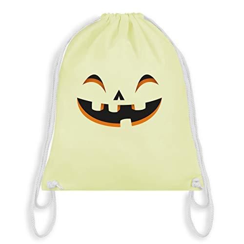 Halloween - Kürbisgesicht Kostüm - Unisize - Pastell Gelb - WM110 - Turnbeutel & Gym Bag