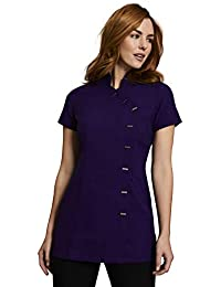 9c1511b13e7c41 Simon Jersey Asymmetrical Beauty Tunic Salon Spa Uniform