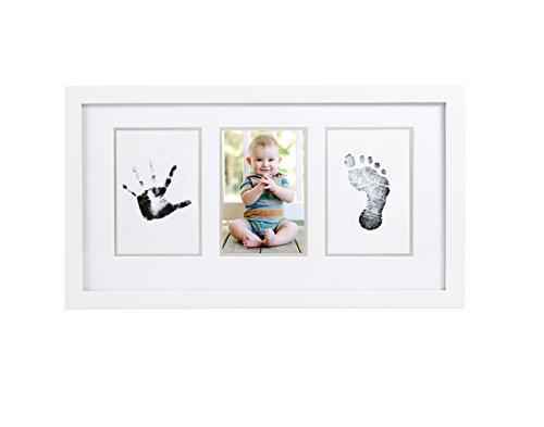 Pearhead p63003 cornice da parete per foto e stampi a inchiostro bimbo, bianca