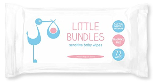 Little Bundles Sensitive Fragrance Free Baby Wipes 12 packs of 72 wipes (864 wipes in total) 31277ENR0iL