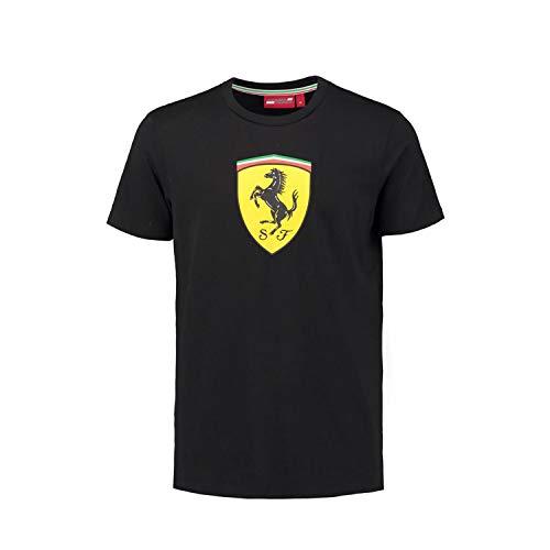 Ferrari schwarz Classic Shield langärmlig T-Shirt (Med) Gr. Medium, schwarz