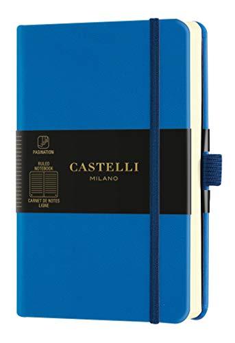 Castelli Milano HARRIS Maple red Taccuino 13x21 cm Pagina a Quadretti Copertina Flessibile Colore Rosso 240 Pag