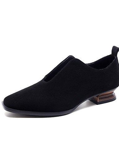 WSS 2016 Chaussures Femme-Extérieure / Bureau & Travail / Habillé / Décontracté-Noir-Gros Talon-Bout Carré / Bout Fermé / Confort / Nouveauté / black-us8 / eu39 / uk6 / cn39