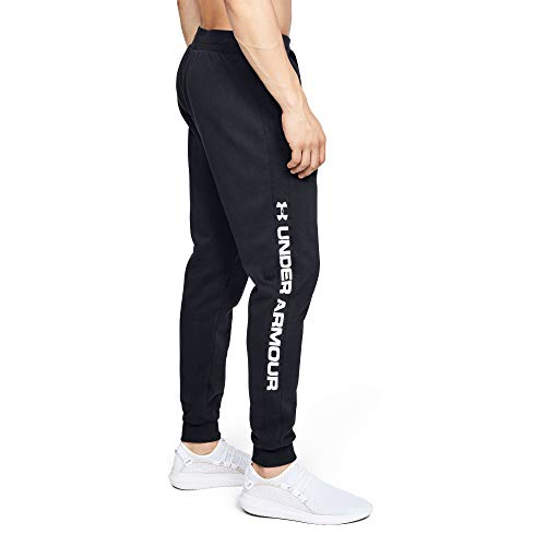Under Armour Rival Fleece Wordmark Logo Jogger, Pantaloni Uomo, Nero, SM