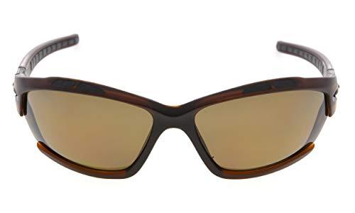 Eyekepper Polycarbonat Polarisierte Sport Sonnenbrillen Für Männer Frauen Baseball Laufen Angeln Fahren Golf Softball Wandern TR90 Unzerbrechlich Braunes Gestell Braunes Objektiv