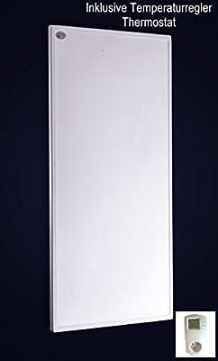 Carbon P Serie Fern Infrarotheizung mit Thermostat mit Standfüße 300 Watt 60 x 50 x 1,5cm Wand Paneele inkl. Wandmontage 100.000Std Lebensdauer 98% Hitzeeffizienz von Vinie - Heizstrahler Onlineshop