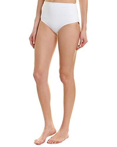 Anne Cole White Convertible Shirred Bikini Bottom