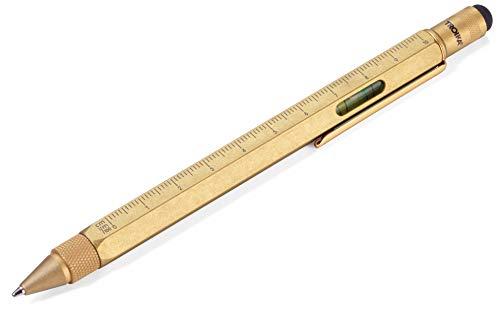 TROIKA Construction - PIP20/AB - Multitasking-Kugelschreiber - Architekten, Bauplaner - Lineal, 1:20/1:50 Skala - Wasserwaage, Schraubendreher - Stylus, Schwarze Mine - TROIKA-Original