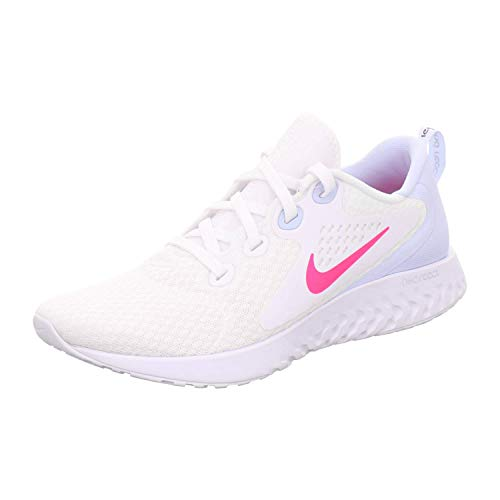 Nike Damen WMNS Legend React Leichtathletikschuhe, Mehrfarbig (White/Hyper Pink/Half Blue/Black 000), 42 EU
