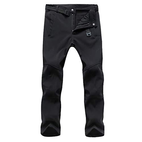 Cayuan Pantaloni Funzionali da Uomo Donna Impermeabili Caldo Pantalone da  Trekking Montagna all aperto Softshell adecff467759