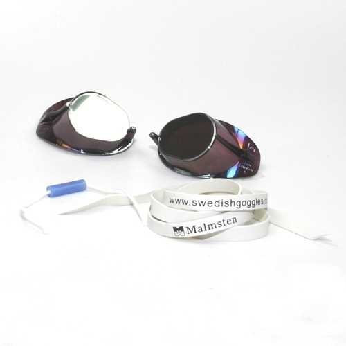 Malmsten Schwedenbrille SILBER-METALLIC