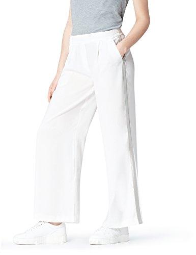 find. Side Stripe Pantaloni Donna, Avorio (White), 40 (Taglia Produttore: X-Small)