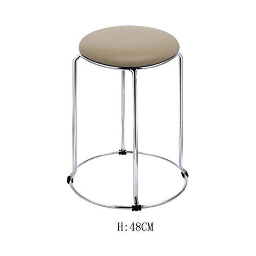 The bar is decorated with high stools,Moderne Küche Hocker mit Metall Beine High Hocker Bar Hocker PU Seat Frühstück Bar, Edelstahl vier Ecke Hocker Füße, Ring Höhe 36-48cm , 15 Glatt und stark - Fuß-ring-barhocker