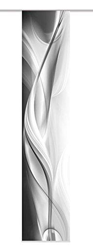 Home fashion 87313-703 - Tenda a pannello Halifax, tessuto decorativo, 300 x 60 cm, grigio
