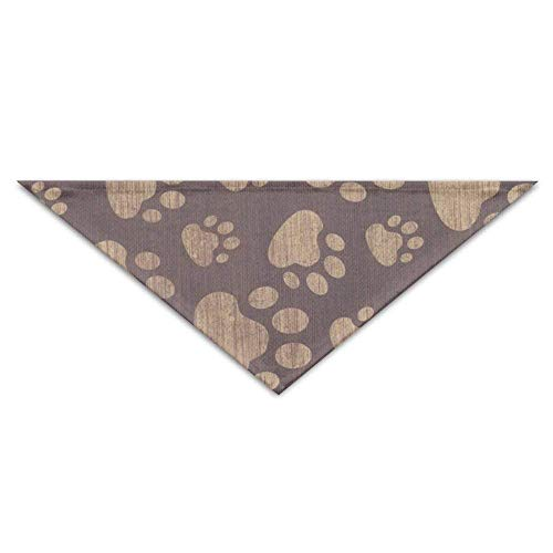 Wfispiy Pug Dog Footprints Paw Texture Dog Bandanas Scarves Triangle Bibs Scarfs Lovely Basic Neckerchief Cat Collars -