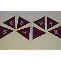 West Ham, Football bunting, party decoration, banner, blue red, handmade bunting