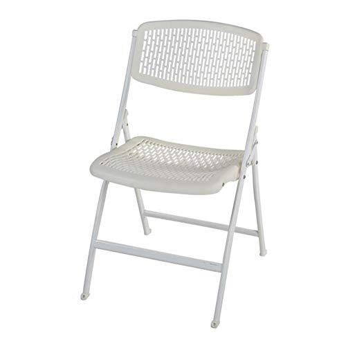 QIDI Chaise Pliante, Chaise de Salle à Manger, Tabouret en Plastique, Chaise de Bureau, simplicité Moderne, Facile à Transporter, Pas Besoin d'installer de Gain de Place Pliable (Couleur : White p)