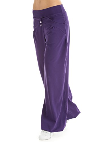 Winshape WTE3 Pantalon de survêtement Dance Fitness Loisirs Sport pour femme Violet - Purple - dunkel-lila