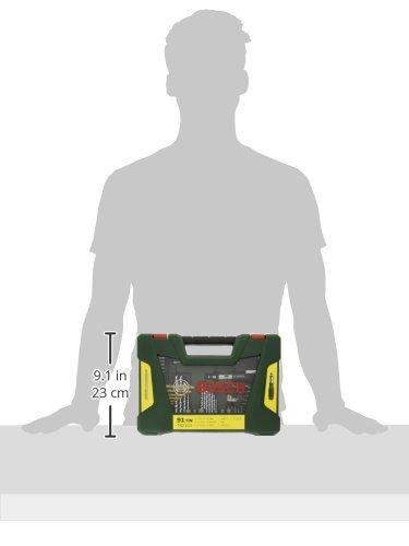Bosch DIY 91tlg. V-Line Titanium-Bohrer- und Bit-Set mit Ratschen-Schraubendreher und Magnetstab - 5