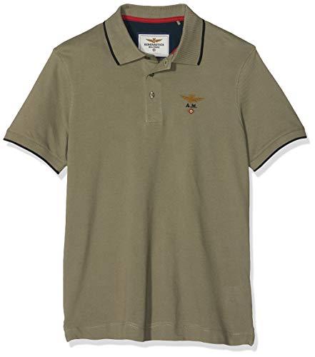 4a17fdbaf5 Aeronautica Militare M.C. Polo, Verde (Salvia 07213), Medium para Hombre