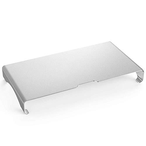 MoKo Monitor Ständer - Universal Aluminium Bildschirm Halter Halterung Stand mit Keyboard Storage für Monitor/Laptop / iMac/MacBook / PC Display, Silber (Maximales Gewicht bis zu 10kg) -