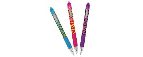Zebra Z-Grip Funky Brights Ballpoint Pen - Assorted Colour (Pack of 3)