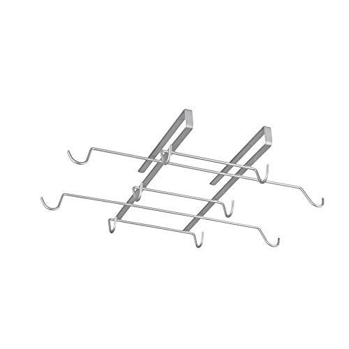 Metaltex Spidermug - Colgador para 10 tazas, color gris plata