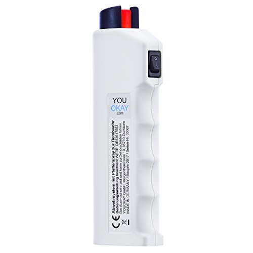 Pfefferspray, Alarm, Blaulicht, Abwehrschlag Funktion das 4-in-1 YouOkay Abwehrsystem inkl. Batterien