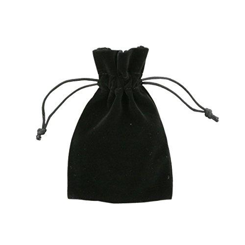 ucktaschen 10x15cm Schwarz - Elegant Samt Geschenk Taschen - von Shingyo (Kundenspezifische Geschenk-taschen)