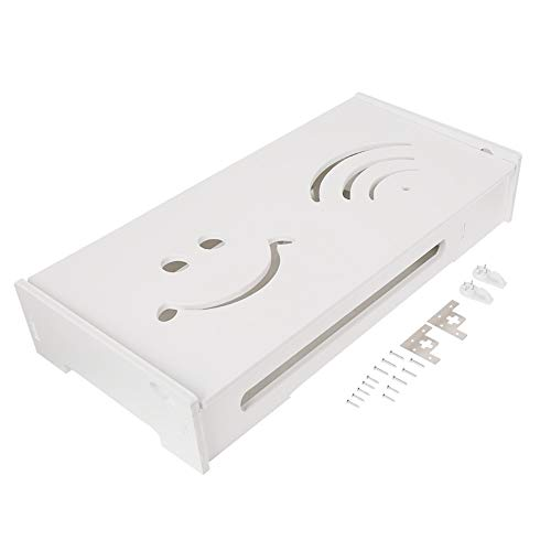 Router Box, Kunststoff Wireless WiFi Wandregal hängen Plug Board Storage Organizer -