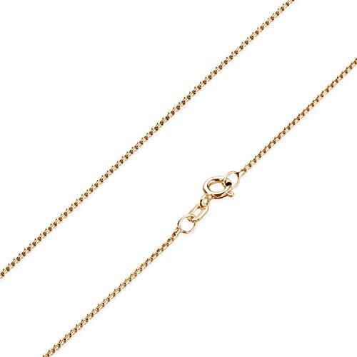 MATERIA Damen Halskette Rosegold - 925 Silber Venezianerkette rosé vergoldet Goldkette Frauen Mädchen mit Box K101-70 cm