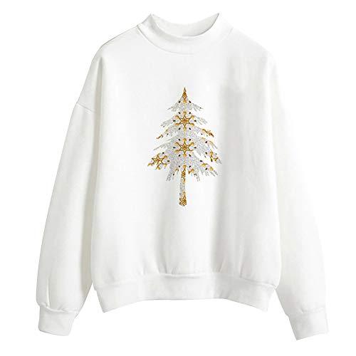 Resplend Sweatshirts Weihnachten,Herbst und Winter Pullover Langarm Freizeit Lose Langärmliges T-Shirt Lange Ärmel Tuniken Oberteil