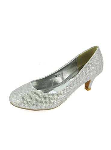 Boutique-Magique - Schuhe Zeremonie Abend Pumps Damen Ferse 6cm–Produkt Gespeichert und verschickt Schnell seit Frankreich, Silber - silbergrau - Größe: 40