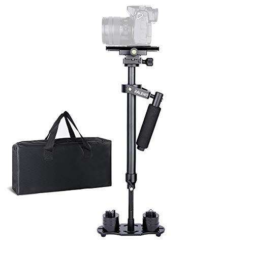 """Kamera Stabilisator, RALENO 60cm Handheld stabilisator mit Schnellwechselplatte 1/4"""" und 3/8"""" Schraube für Canon Nikon Sony und andere DSLR Kamera Video DV bis zu 3 kg"""