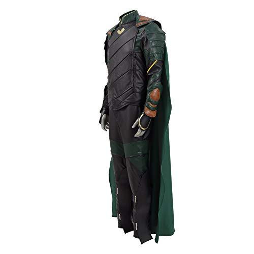 Zhangjianwangluokeji Loki Kostüm Cosplay Halloween Grüner Komplett Jumpsuit (S, Loki) (Tom Hiddleston Loki Kostüm)