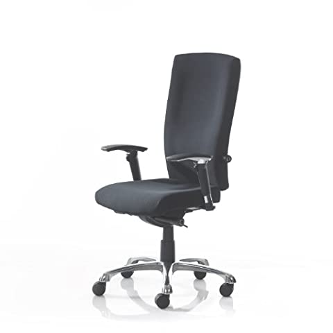 Wave High Back 24 Hour Orthopaedic Black Fabric Posture Chair