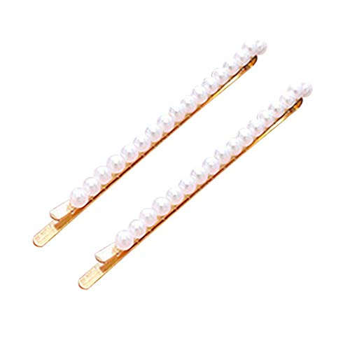 Haarschmuck/Dorical Damen Hochzeit Haarspange Haarnadeln Gold Perlen Glitzer Accessoires/Geburtstags Geschenk Party Handgefertigte Perlen-Haarspange für Mama Frauen Mädchen(D)