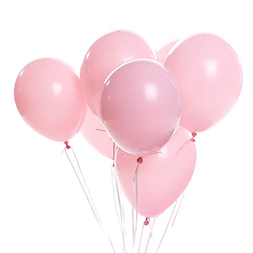 Shengchu Pink Latex Balloons, 100-Pack, 12-Inch (Baby pink)