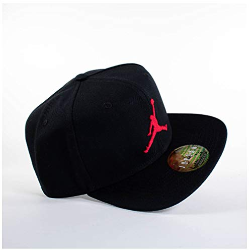 7b070f3ee2015 Nike Jordan Pro Jumpman Snapback Chapeau Mixte Adulte, Black/Gym Red, FR  Unique