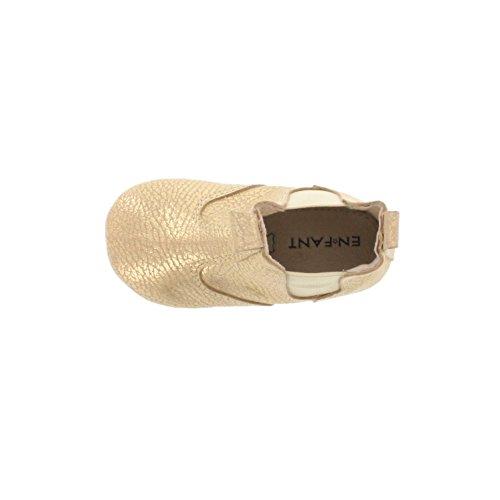 Enfant bébé fille chaussons boots, cuir, 815121 gold