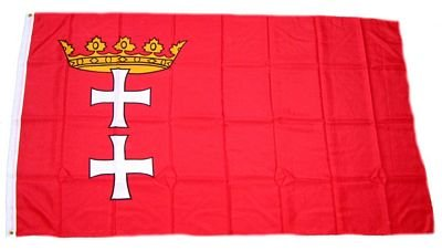 Fahne / Flagge Danzig NEU 90 x 150 cm Flaggen